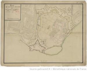 Carte Le Chateau Oléron 1685