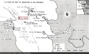 Carte forts rade Oléron-Aix 2