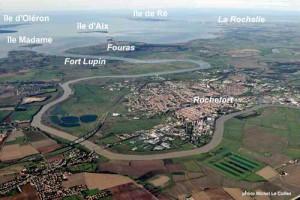 Rochefort et la rade vue vers l'ouest